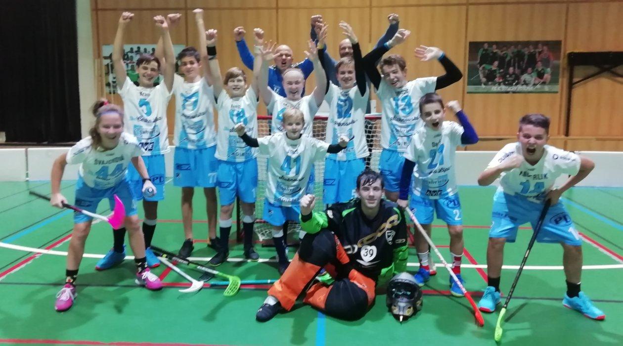 Starší žáci FBC Šluknovsko vybojovali druhý koš.