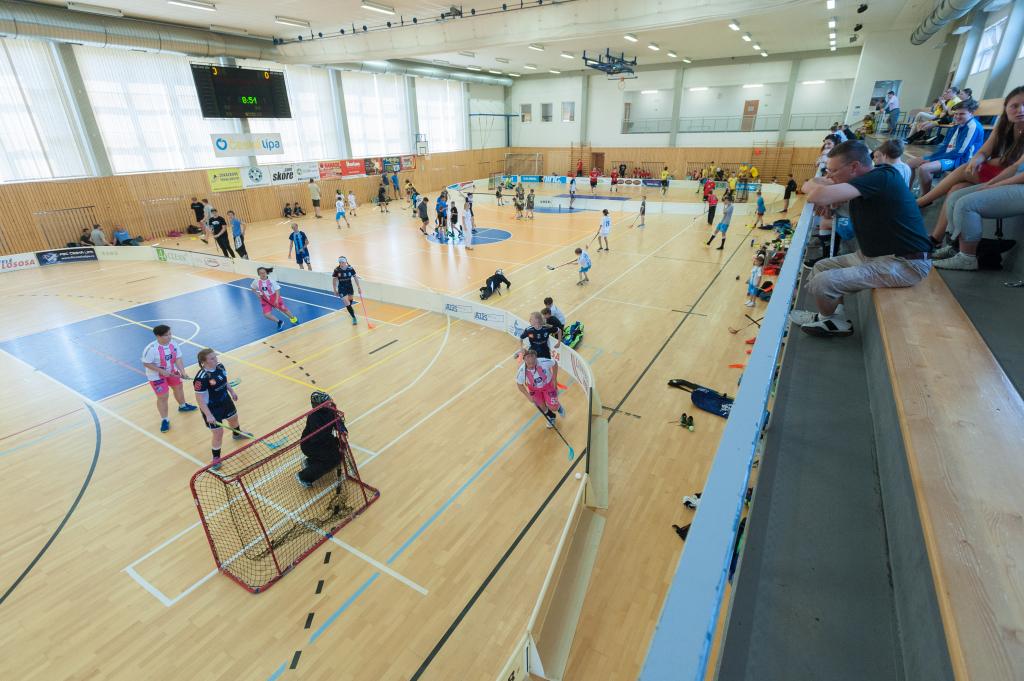 Městská sportovní hala během Florbalových válek